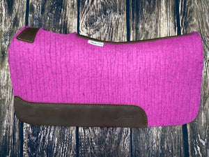 5 Star Saddle Pad - Pink with Plain Wear Leathers (Multiple Sizes Available)