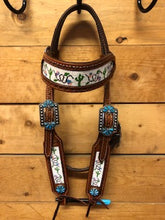 Load image into Gallery viewer, Rafter S. Cactus Beaded Headstall.