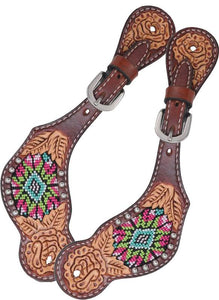 Rafter T Kids Spur Strap - Beaded Inlay