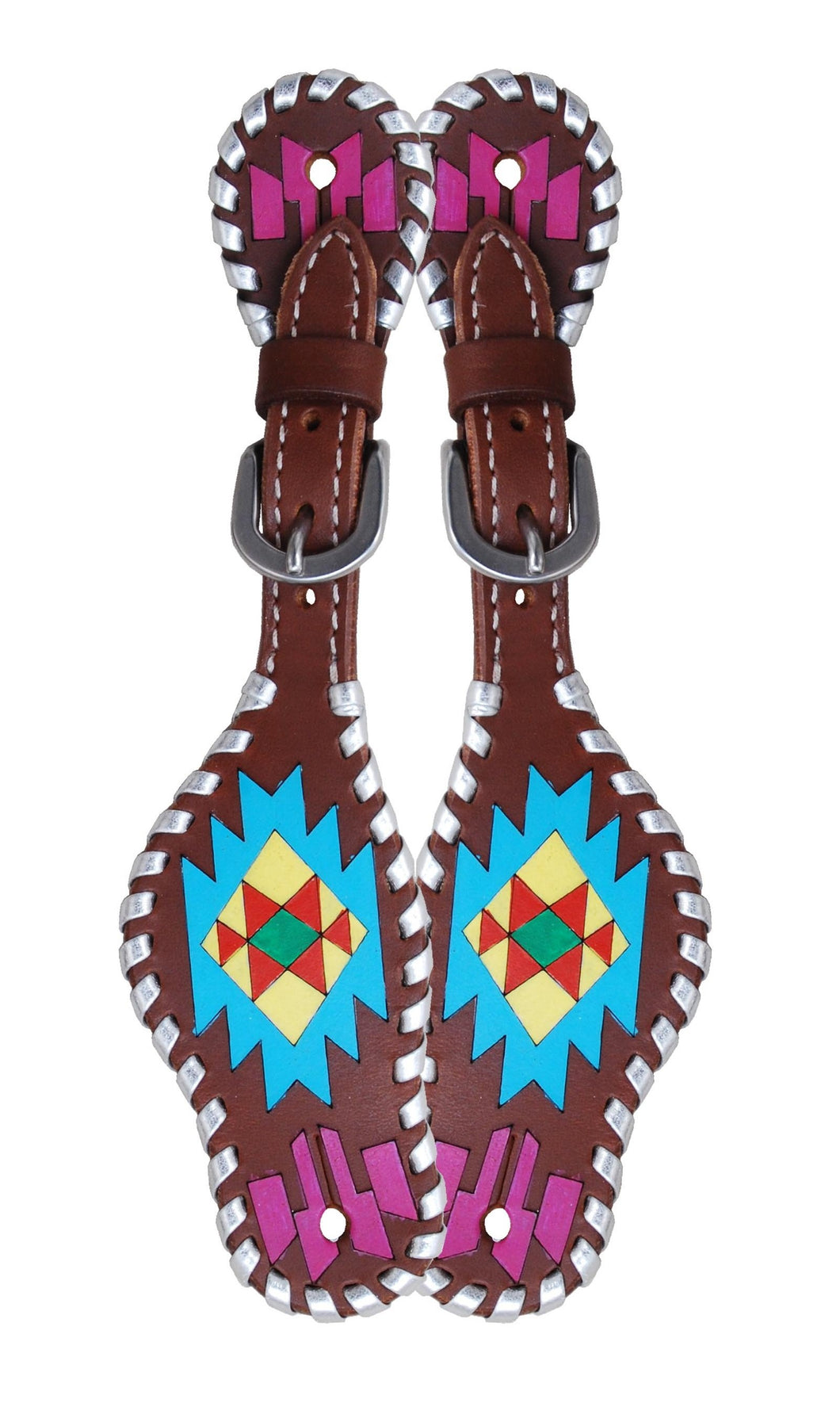 Rafter T Kids Spur Strap - Painted Aztec