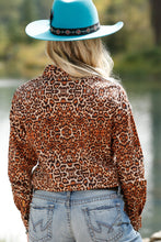 Load image into Gallery viewer, Leopard Snap Western Shirt
