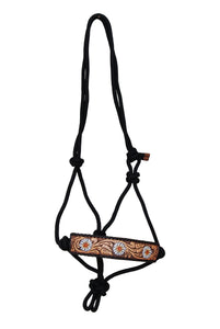 Rafter T Rope Halter - Painted Daisy Flower