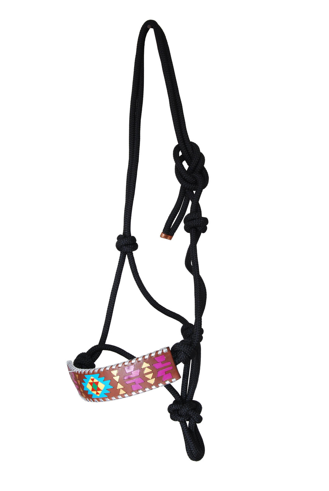 Rafter T Rope Halter - Painted Aztec