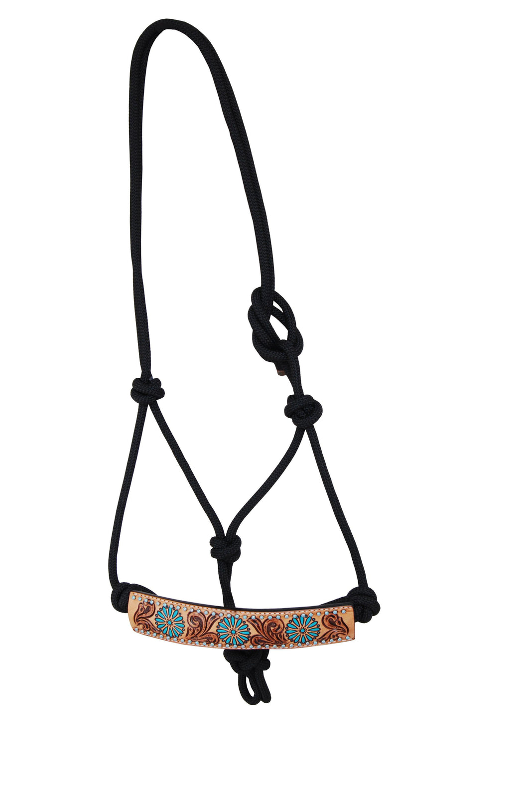 Rafter T Rope Halter - Turquoise Sun Spots