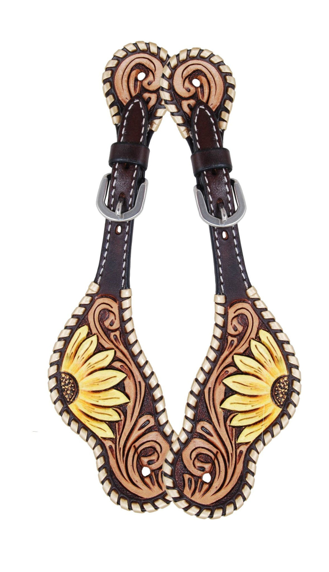 Rafter T Ladies Spur Strap - Painted Sunflower