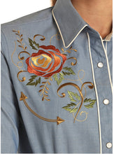 Load image into Gallery viewer, Retro Embroidered Snap Shirt