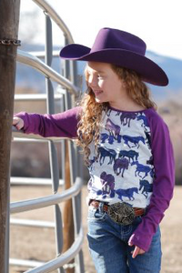 Purple Horse Long Sleeve