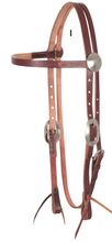 Load image into Gallery viewer, Cashel Chocolate Smoothout Headstall