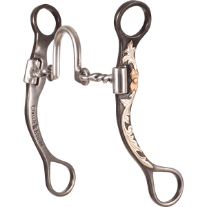 "Classic Equine BitLogic 7 1/2"" Cheek Bit - Ported Twisted Wire"