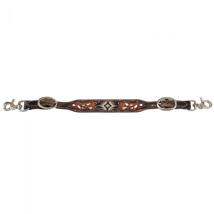 Circle Y Distressed Beaded Wither Strap