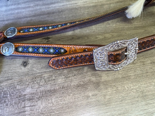 "Load image into Gallery viewer, Rafter S. ""Cowboy's Prayer"" One Ear Headstall"