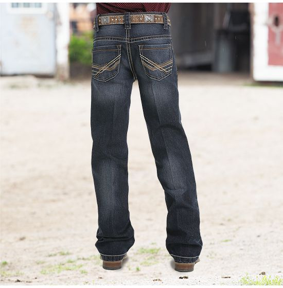 Boy's Cinch. Relaxed Fit. Dark Wash.