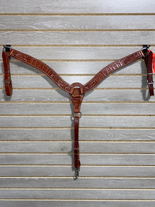 "Leanin' Pole 2"" Breastcollar - Chestnut Floral with Logo"