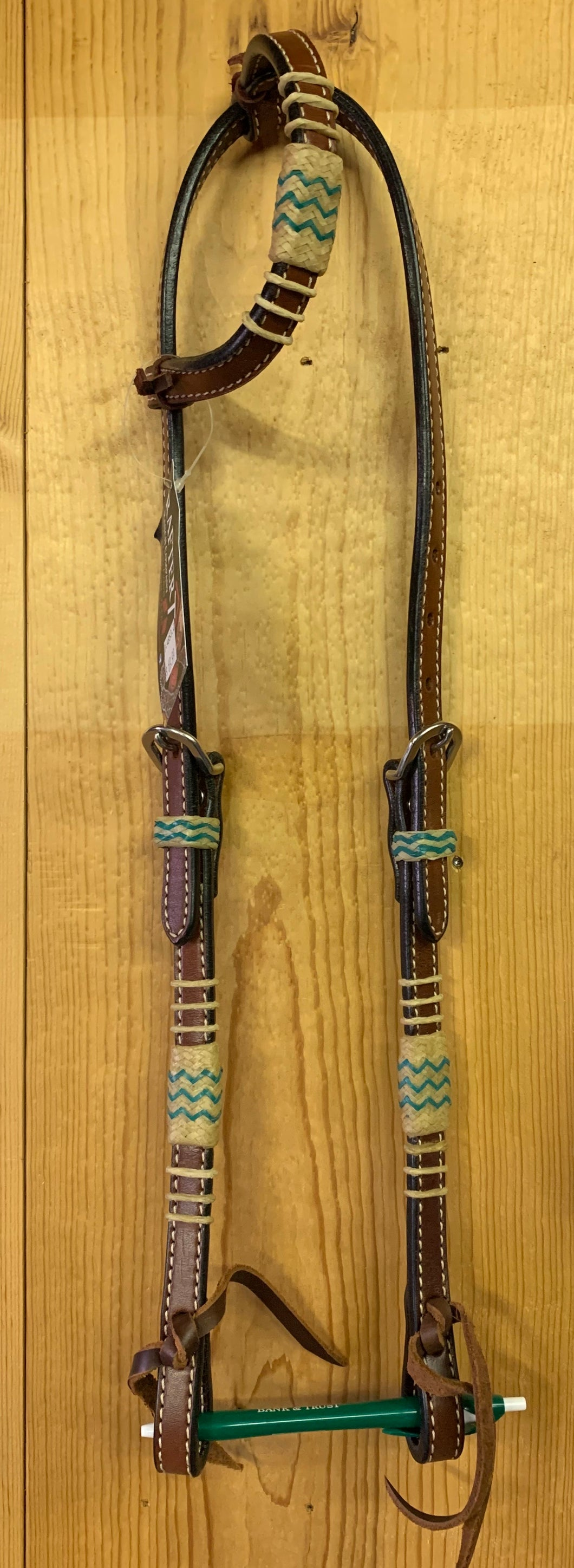 Rafter T One Ear Headstall with Rawhide Accent