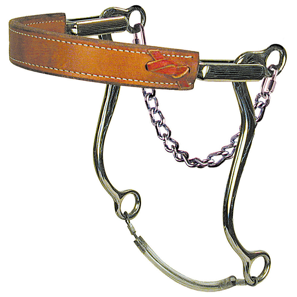 Reinsman Mechanical Hackamore Leather Nose