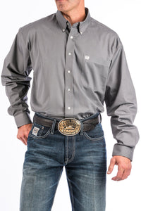 Cinch. Grey, Long Sleeve Button Down.