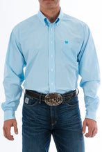 Load image into Gallery viewer, Cinch. Light Blue, Micro Stripe - Long Sleeve Button Down.
