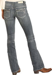 R&R Cowgirl. Low Rise Rival Bootcut Jeans