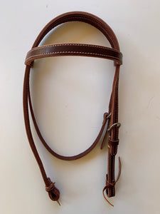 Ed & Martha Wright Leather Headstall