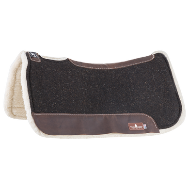 "Powered with a vented Zoombang™ insert that is scientifically engineered to dissipate energy, reducing injury and stress on equine athletes. Its breathable design remains securely in place, providing conformal layered protection. Durable 3/8"" felt top is designed to be used alone or under show blanket. A 100% Merino fleece bottom wicks moisture and provides maximum comfort to the horse's back. 1-1/4"" total pad thickness."