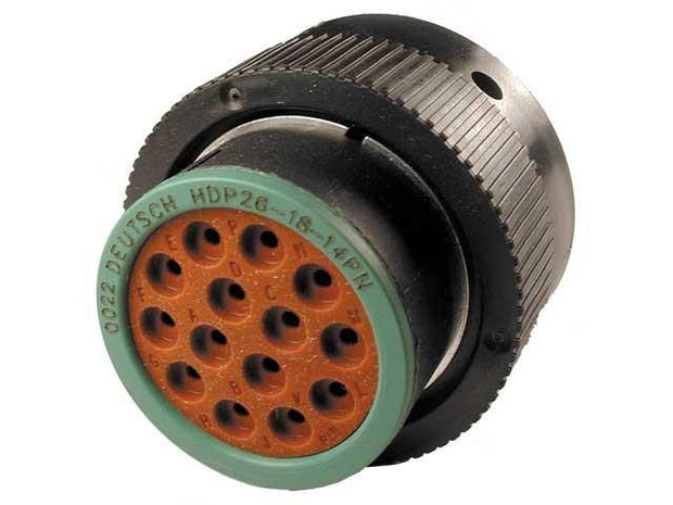 Deutsch HDP20 CBL Plug 14 Way Pin-Contacts BLK IP67 13A