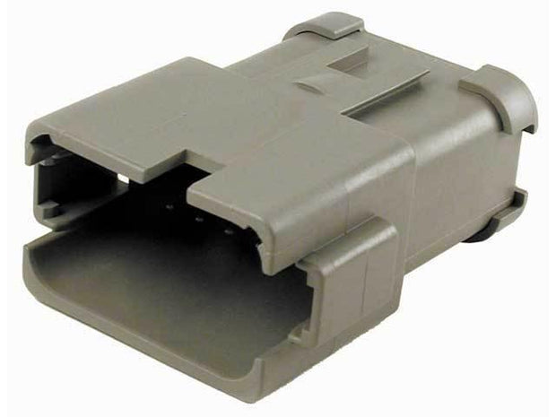 Deutsch DT CBL Receptacle 12 Way Pin-Contacts GRY IP68 39A Bussed 2x6