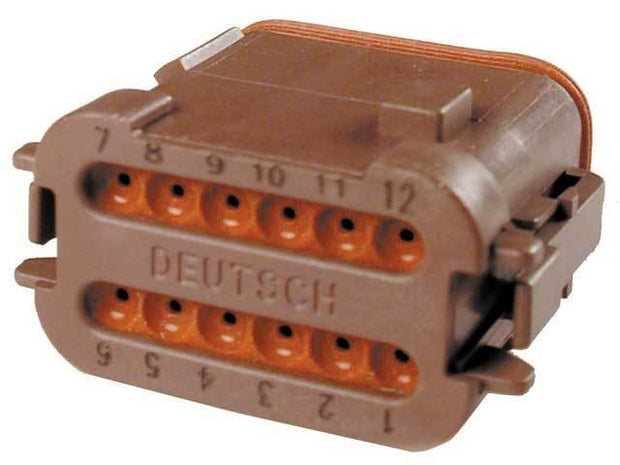 Deutsch DT CBL Plug 12 Way Socket-Contact BRN IP68 13A D-Key CAT-Spec