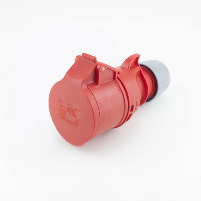 PCE CEE CBL Ext. Socket 5 way Socket-Contacts RED IP44 16A 400V