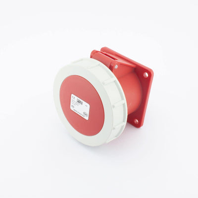PCE CEE Wall Socket Outlet 4 way Socket-Contacts RED IP67 32A 440V