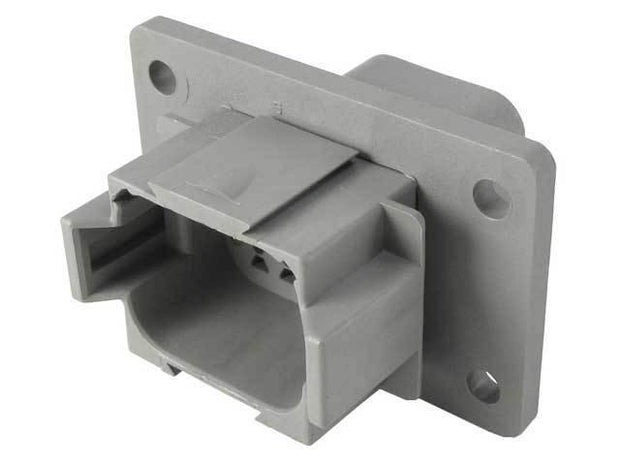 Deutsch DT Panel Receptacle 8 Way Pin-Contacts GRY IP68 13A Panel E-Seal