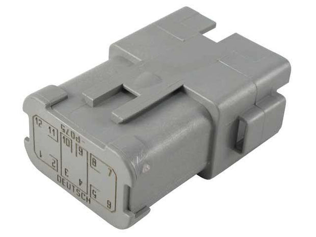 Deutsch DT CBL Receptacle 12 Way Pin-Contacts GRY IP68 13A Bussed 3x4