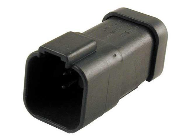 Deutsch DT CBL Receptacle 6 Way Pin-Contacts BLK IP68 13A Bussed 1x6