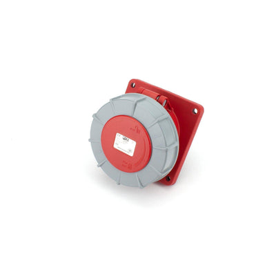PCE CEE Panel Socket Outlet 5 way Socket-Contacts RED IP67 63A 400V 106x110