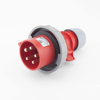PCE CEE CBL Plug 5 way Pin-Contacts RED IP67 32A 400V