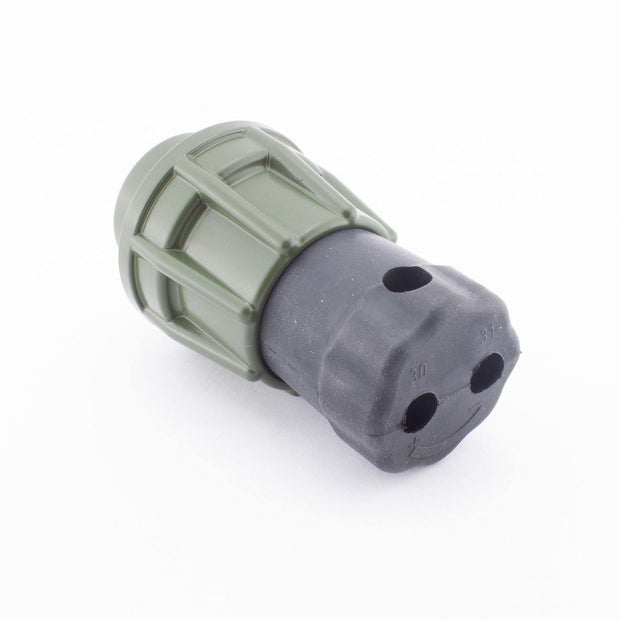 Elke NATO Plug 2 Pole Male Contacts 50mm2 OLV GRN with Screw Ring