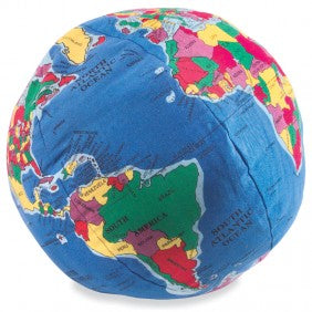 Stuffed World Globe Toy by Hugg-A-Planet-Baby Size