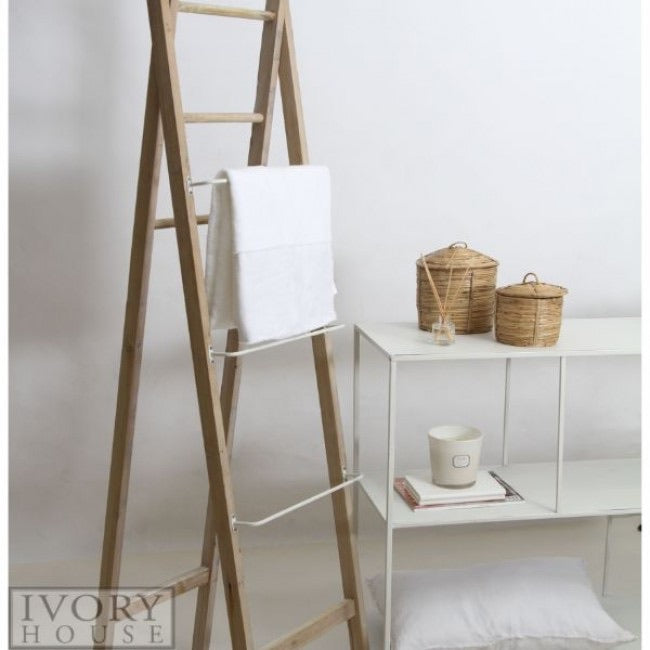Ladder with Metal & Wood Rungs