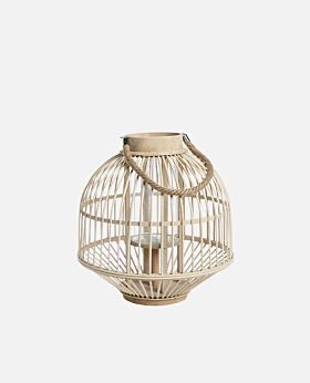 Lantern Pacific Bamboo with Inner Glass Holder