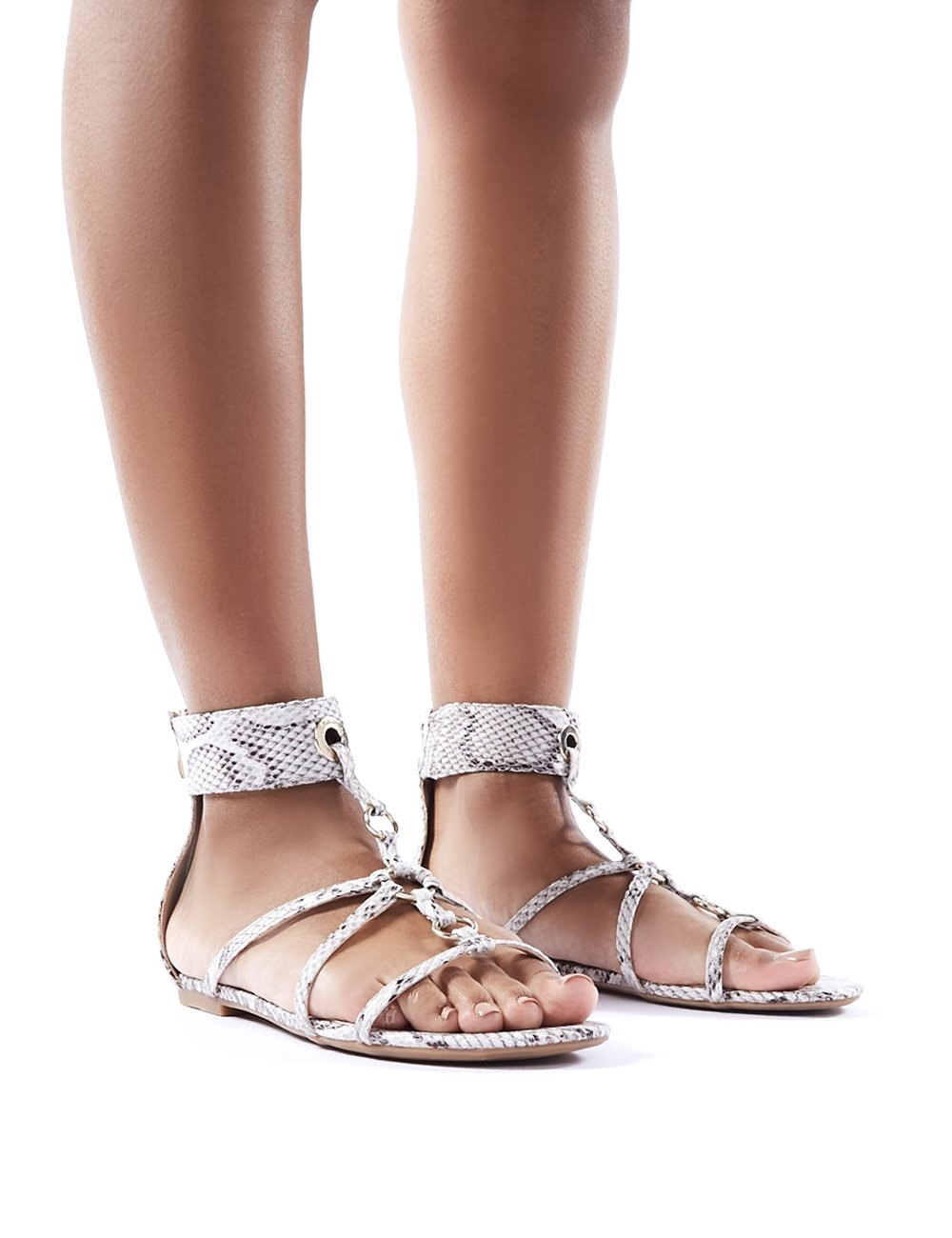 Public Desire Sparra Gold Barely There Heeled Sandals at