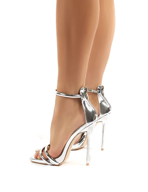 Mainstream Silver Barely There High Heels