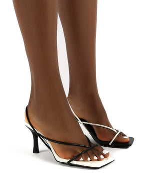 Annika Mono Wide Fit Square Toe Strappy Heels
