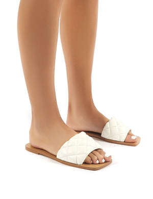 Cloud White Slider Sandal