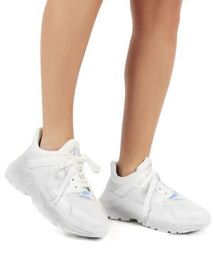 Hail White Chunky Trainer