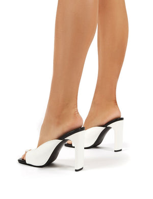 Abelle Mono Square Toe High Heeled Mules