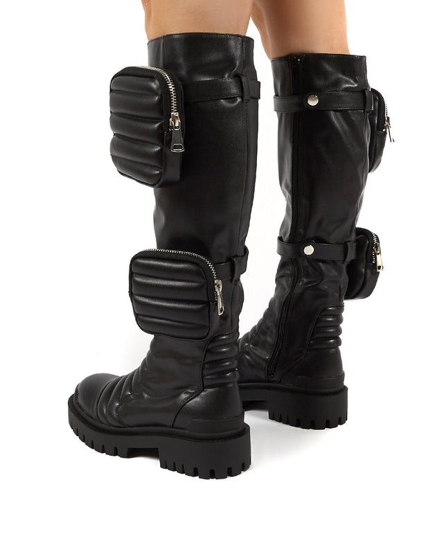 3 4 length womens boots