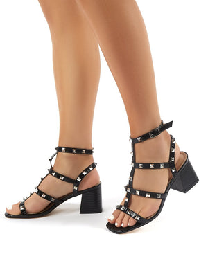 Always Black Studded Mid Heels
