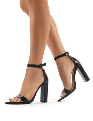 Miao Black Snake Barely There High Heels