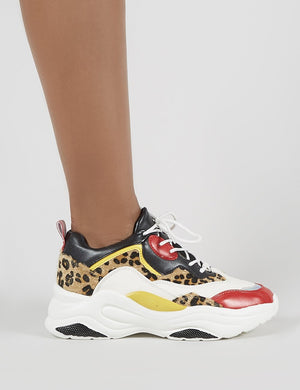 Pounce Chunky Trainers in Colourblock