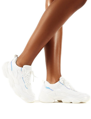 Abbie White Chunky Trainers