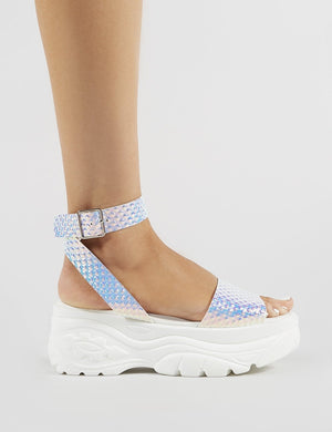 Perrie Chunky Sandals in Iridescent